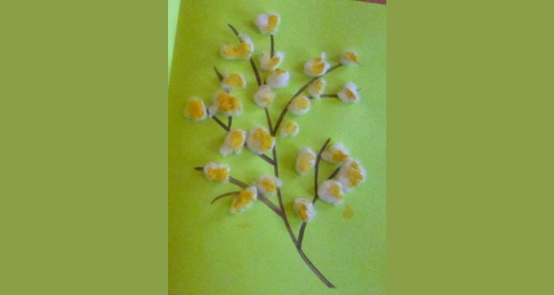 Конспект непосредственно образовательной деятельности «Подарок для мамы на 8 марта» для детей первой младшей группы